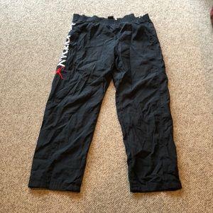 Vtg Nike Air Jordan snap off Nylon sweatpants XL